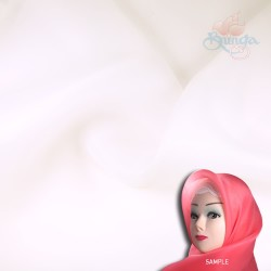 "Senorita Organdy Scarf Tudung Plain 45"" Off White - #502"