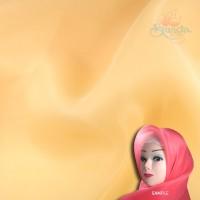 "Senorita Organdy Scarf Tudung Plain 45"" Orange Milk - #507"