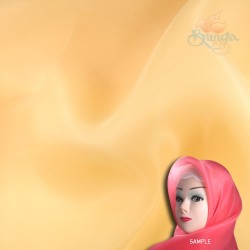 "Senorita Organdy Scarf Tudung Plain 45"" Orange Milk - #507"