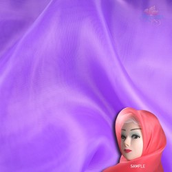 "Senorita Organdy Scarf Tudung Plain 45"" Purple - #526"