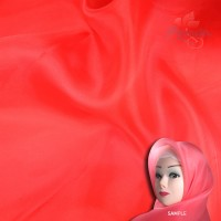 "Senorita Organdy Scarf Tudung Plain 45"" Red - #519"