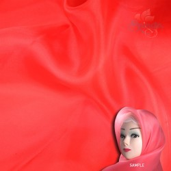 "Senorita Organdy Scarf Tudung Plain 45"" Red - #519"