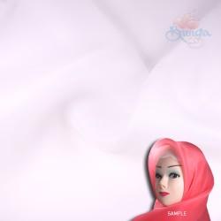 "Senorita Organdy Scarf Tudung Plain 45"" White - #501"