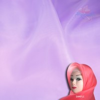 "Senorita Organdy Scarf Tudung Plain 45"" White Purple - #552"