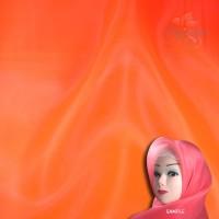 "Senorita Organdy Scarf Tudung Plain 45"" Deep Orange - #053"