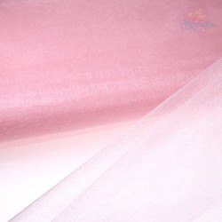"Organza Fabric Baby Pink 60"" Wide - 1 Meter"