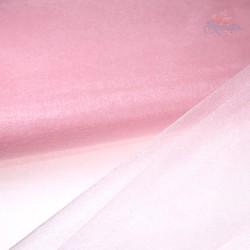 "Organza Fabric Baby Pink 60"" Wide - 1 Meter"