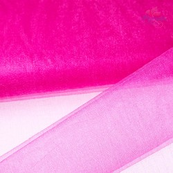 "Organza Fabric Bright Pink 60"" Wide - 1 Meter"