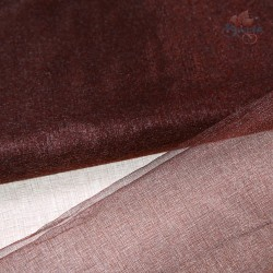 "Organza Fabric Brown 60"" Wide - 1 Meter"