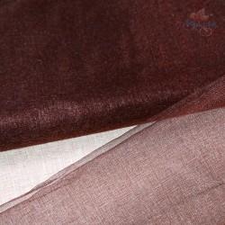 "Organza Fabric Brown 60"" Wide - 1 Meter"