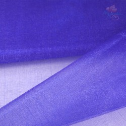 "Organza Fabric Electric Blue 60"" Wide - 1 Meter"