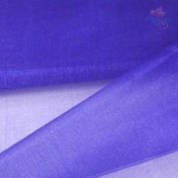 "Organza Fabric Electric Blue 60"" Wide - 1 Meter"