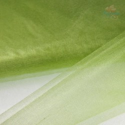 "Organza Fabric Grass Green 60"" Wide - 1 Meter"