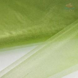 """Organza Fabric Grass Green 60"""" Wide - 1 Meter"""
