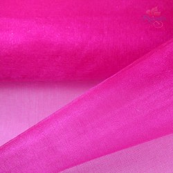 "Organza Fabric Hot Pink 60"" Wide - 1 Meter"