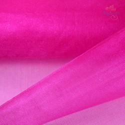"Organza Fabric Hot Pink 60"" Wide - 1 Meter"
