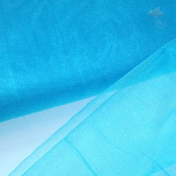 "Organza Fabric Pool Blue 60"" Wide - 1 Meter"