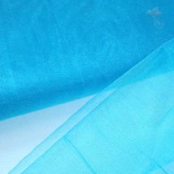 """Organza Fabric Pool Blue 60"""" Wide - 1 Meter"""