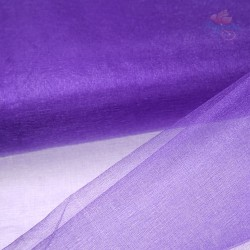"Organza Fabric Purple 60"" Wide - 1 Meter"