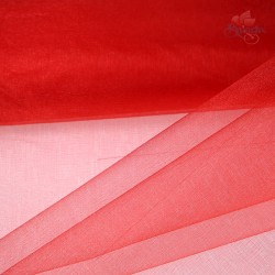 "Organza Fabric Red 60"" Wide - 1 Meter"