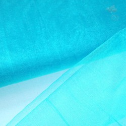 "Organza Fabric Turquoise Sea 60"" Wide - 1 Meter"