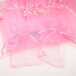 Small Organza Pouch Light Pink (9cm x 14.5cm) - 50pcs