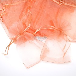 Big Organza Pouch Peach (17.5cm x 30cm) - 20pcs