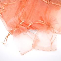Medium Organza Pouch Peach (13.5cm x 21cm) - 20pcs