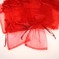 Small Organza Pouch Red (9cm x 14.5cm) - 50pcs
