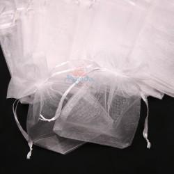 Medium Organza Pouch White (13.5cm x 21cm) - 20pcs