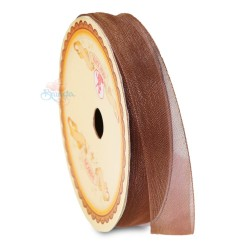#568 Senorita Organza Ribbon - Brown (9mm, 15mm, 24mm)
