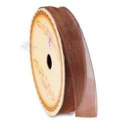 #568 Senorita Organza Ribbon - Brown (9mm, 15mm, 24mm)