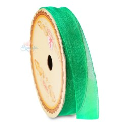 #26 Senorita Organza Ribbon - Emerald Green (9mm, 15mm, 24mm)