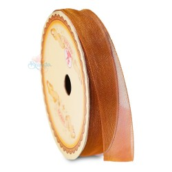 #246 Senorita Organza Ribbon - Light Brown (9mm, 15mm, 24mm)