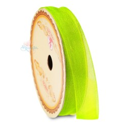 #535 Senorita Organza Ribbon - Lime Green (9mm, 15mm, 24mm)