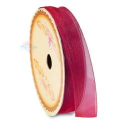 #028 Senorita Organza Ribbon - Maroon (9mm, 15mm, 24mm)