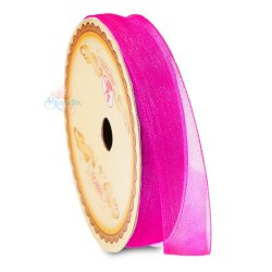 #F106 Senorita Organza Ribbon - Shocking Pink (9mm, 15mm, 24mm)