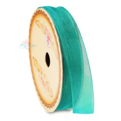#549 Senorita Organza Ribbon - Teal Green (9mm, 15mm, 24mm)