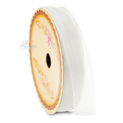 #WHT Senorita Organza Ribbon - White (9mm, 15mm, 24mm)