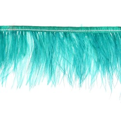 Ostrich Feather Trimming Green 15cm - 2 Meters