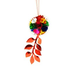 Shining Ball Leaf Hanging Decoration Small - 1 Pcs