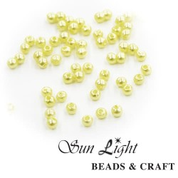 10mm Sun Light Pearl Bead Cream - #34
