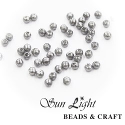 10mm Sun Light Pearl Bead Grey - #39