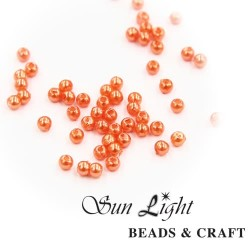 10mm Sun Light Pearl Bead Salmon Orange - #40