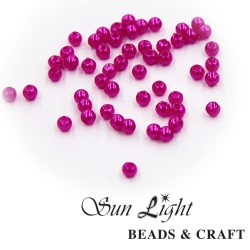 4mm Sun Light Pearl Bead Hot Pink - #9