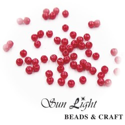4mm Sun Light Pearl Bead Red - #D10