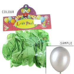 "12"" Plain Metallic Balloon Party - Apple Green (24pcs)"