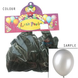 "12"" Plain Metallic Balloon Party - Black (24pcs)"
