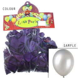 "12"" Plain Metallic Balloon Party - Black Purple (24pcs)"