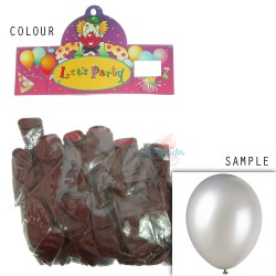 "12"" Plain Metallic Balloon Party - Dark Brown (24pcs)"